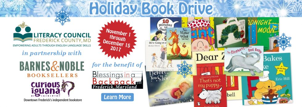 Holiday Book Drive Seeks to Collect books for 2,000 Frederick County Children