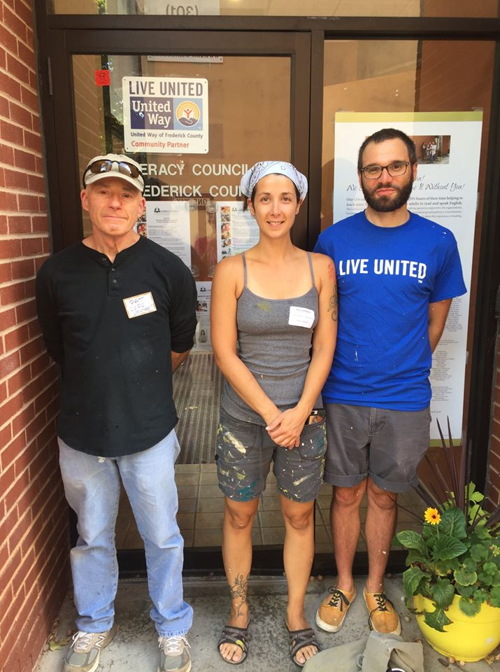 United Way Day of Action Volunteers Paint Study Rooms